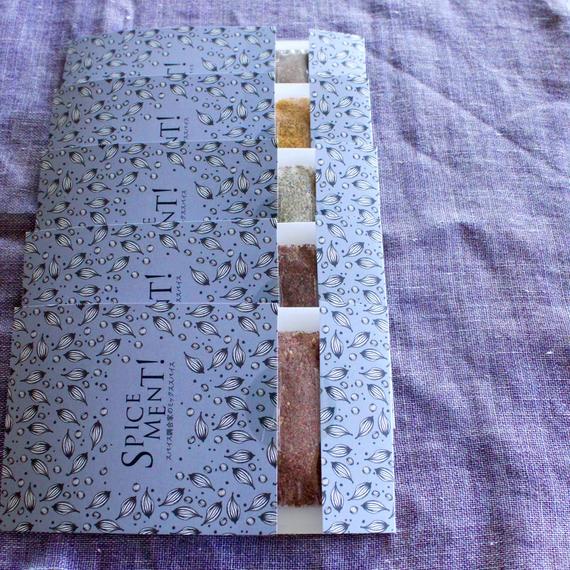 五色の短冊 5種のスパイスセット