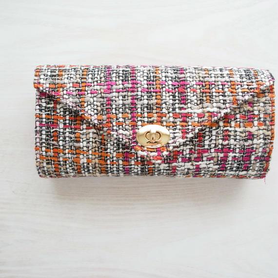K様オーダー品『働く女性』のための究極のお財布バッグ(ピンクオレンジ×ピンク)