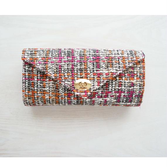 K様オーダー品 ≪受注販売≫『働く女性』のための究極のお財布バッグ(ピンクオレンジ×ピンク)
