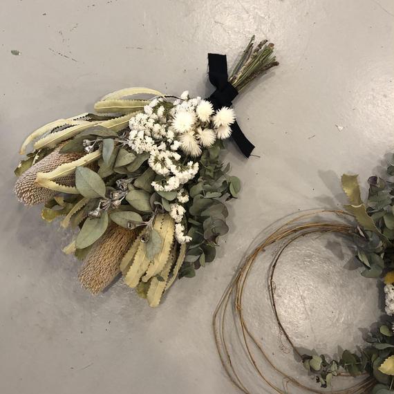 bouquet swag /  banksia