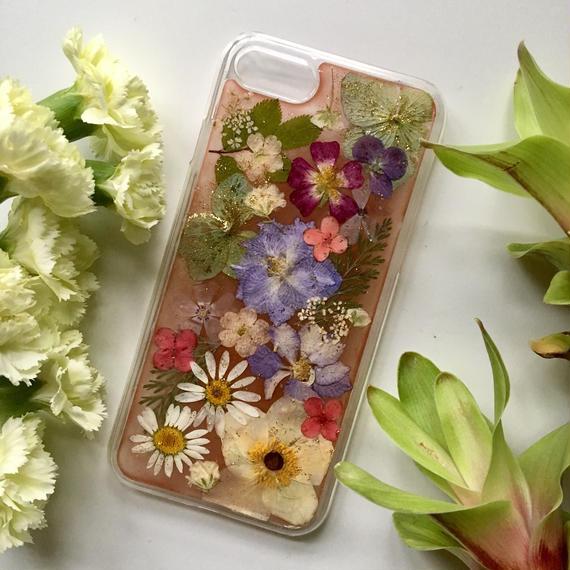オーダー:押し花case   iPhone6/7/8/X /SE (カラー)