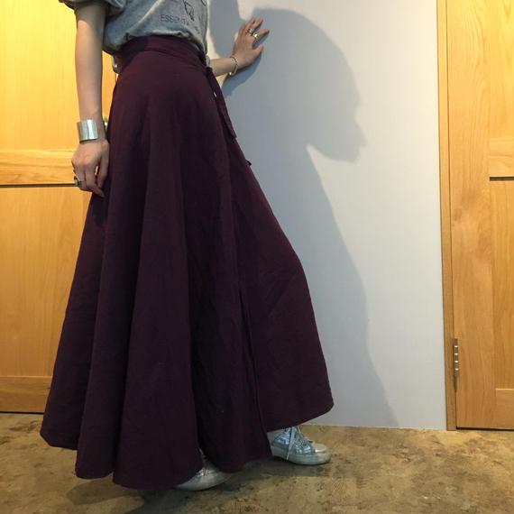 花屋の作る洋服 =long skirt= purple