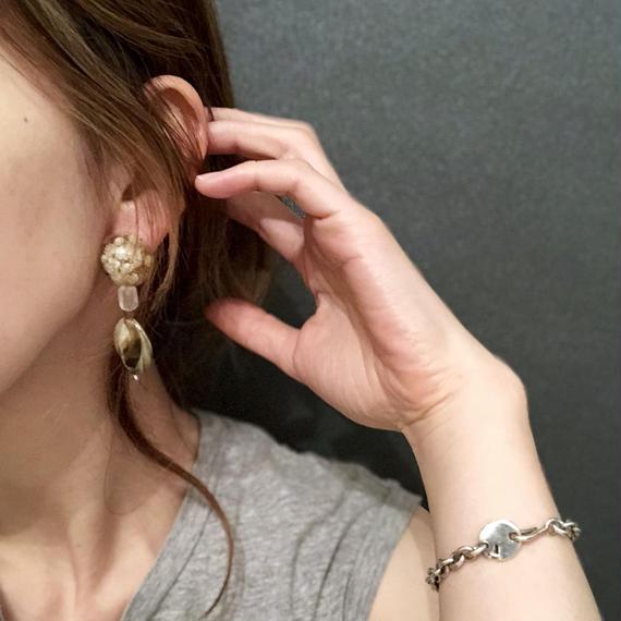 耳飾りWater flower =halfcube M 268 =