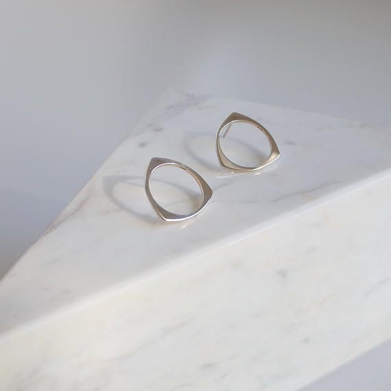 Three pierce in silver