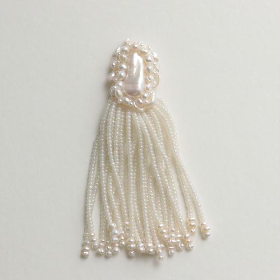 large Flower tassel earring