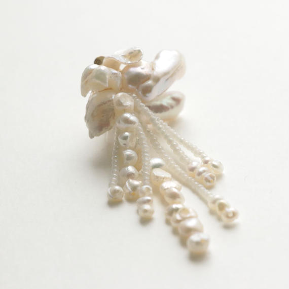 Flower tassel earring