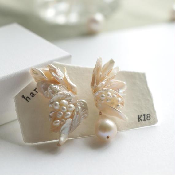 Flower with bijou  <Pearl>