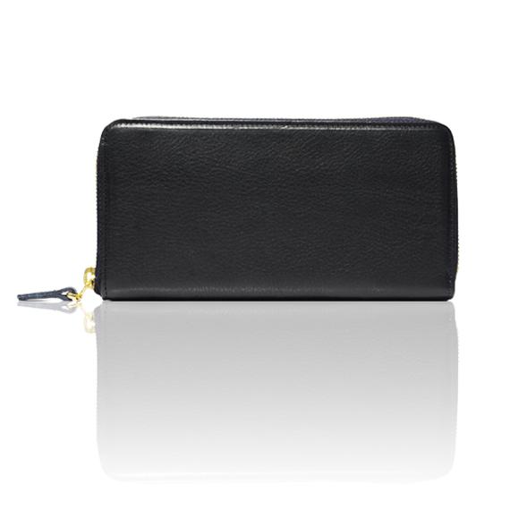 "made in Ryogoku ""粋"" HOKUSAI   Zip Arround Wallet (NAVY)"
