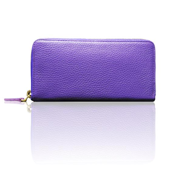 "made in Ryogoku ""粋"" HOKUSAI   Zip Arround Wallet (Viola)"