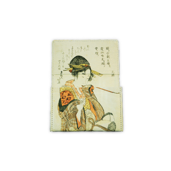 "made in Ryogoku ""粋"" HOKUSAI  Card case  (Viola)"