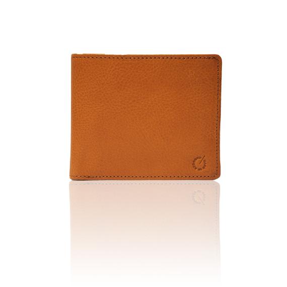 """made in Ryogoku """"粋"""" HOKUSAI  Billfold Wallet  (Natural Brown)"""