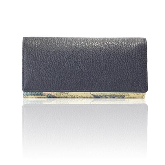 "made in Ryogoku ""粋"" HOKUSAI  Long Wallet  (deep blue)"