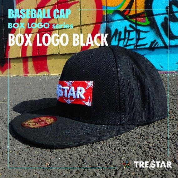 トレスター ベースボールキャップ ボックスロゴ ブラック