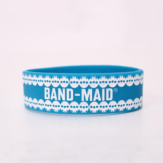 LOGO RUBBER BAND Blue/White