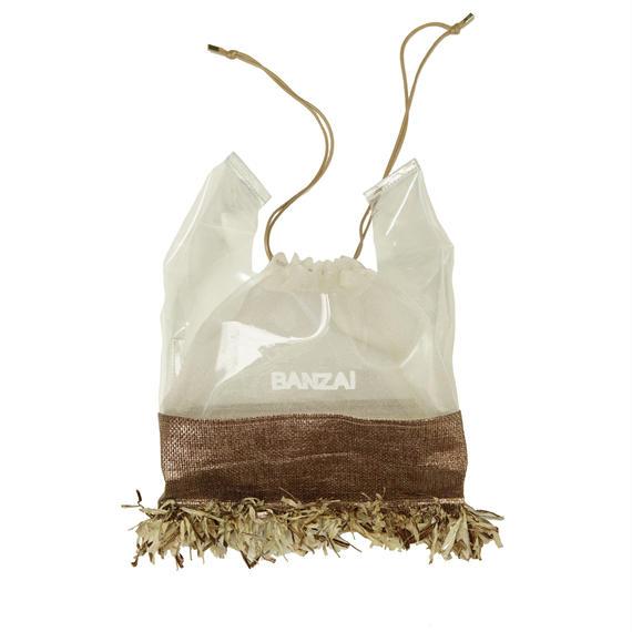 THOMEI STRAW  DRAWSTRING BAG