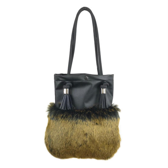 FAUX FUR BAG/BK