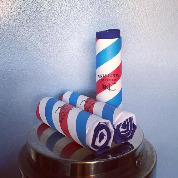 手ぬぐい Barberpole:Dブルー