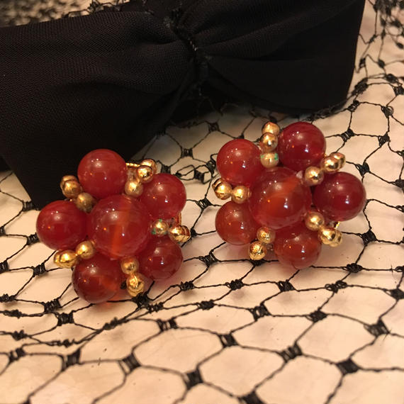 Vintage Dark Red Earrings