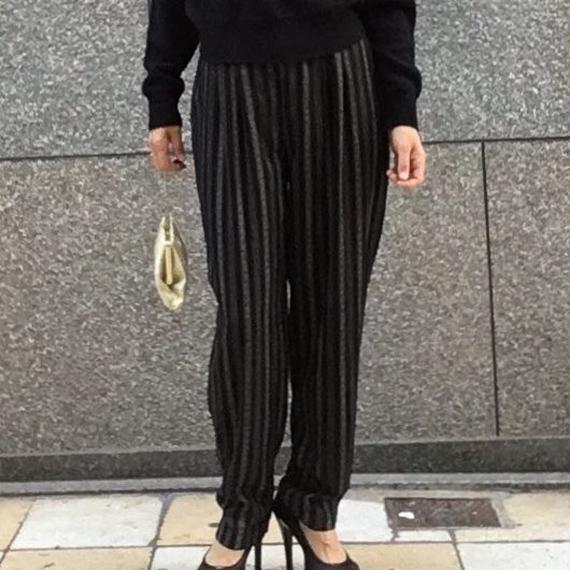 Vintage Stripe Tucked Pants