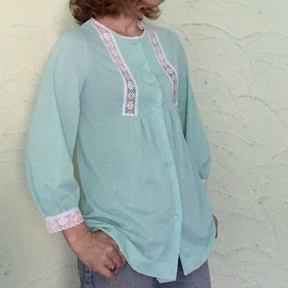 70's Vintage Bed Gown Top