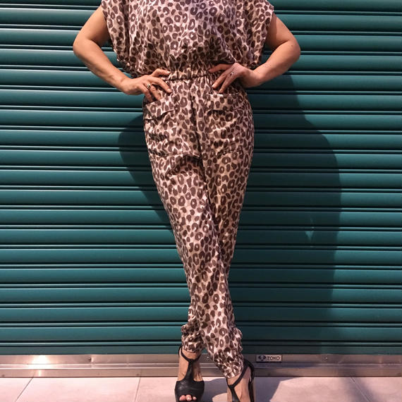 Vintage Leopard Jumpsuits