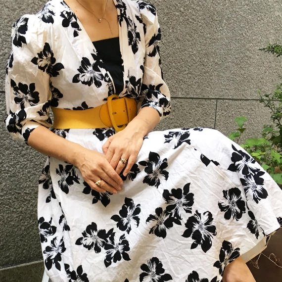 Vintge Black Flower Dress