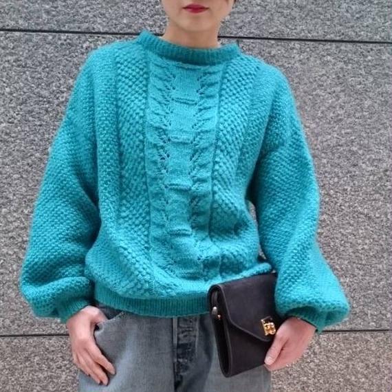 Vintage Hand Knit Volume Sleeve Sweater