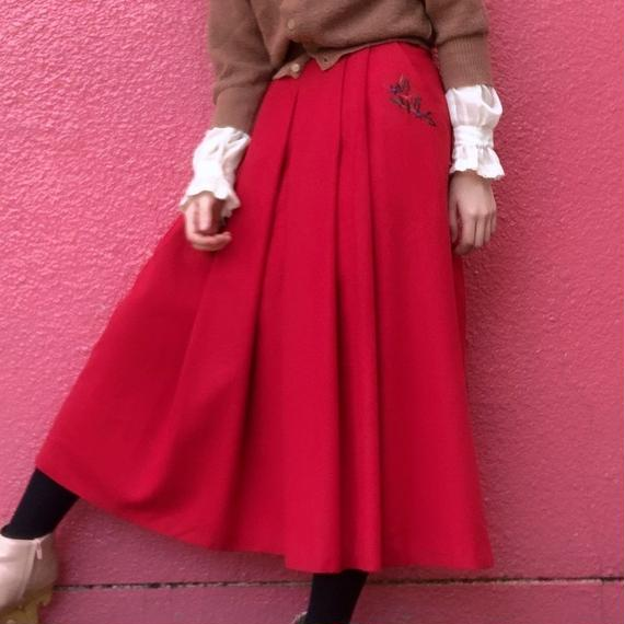 ヴィンテージ  チロル 刺繍スカート
