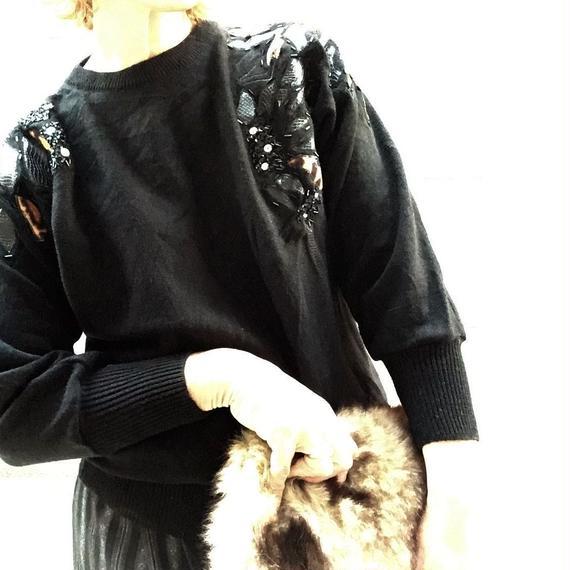 Vintage Leopard Patchwork Mohiar Knit