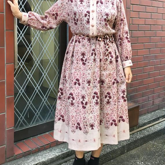 Vintage Floral Knit Dress