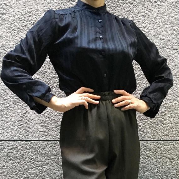 Vintage Stripe Seethrough Blouse