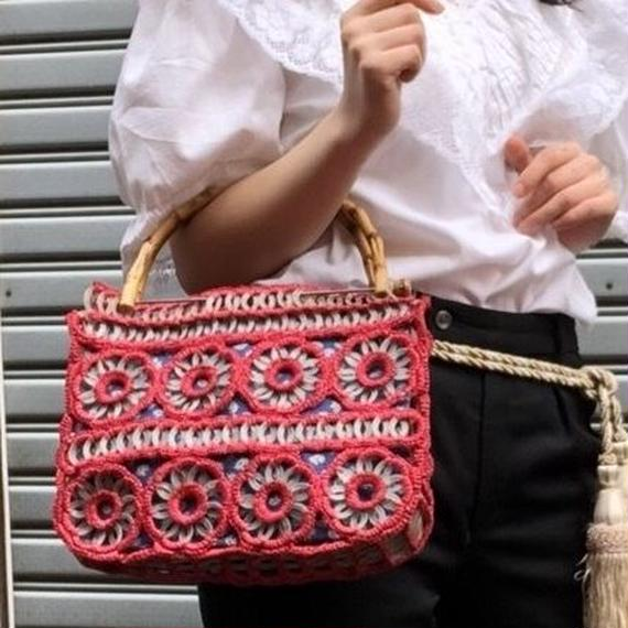 60's Crochet Bamboo SummerBag