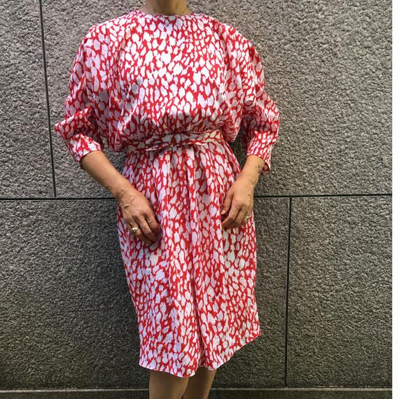 Vintage Red Leoperd Dress