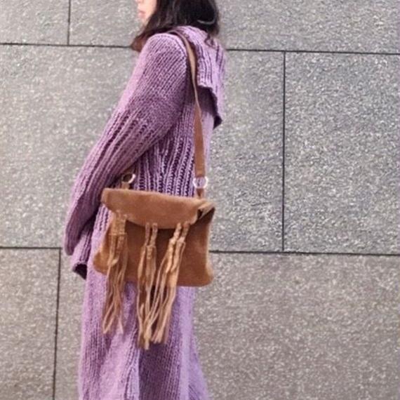 Vintage Suede Fringe shoulder Bag