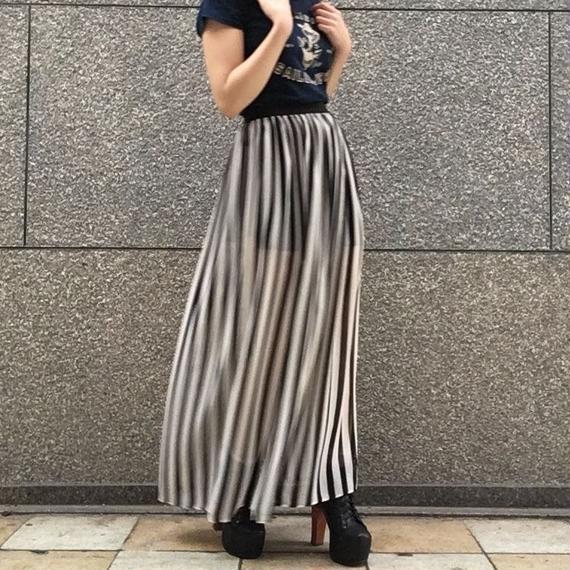 Vintage Chiffon Stripe Skirt