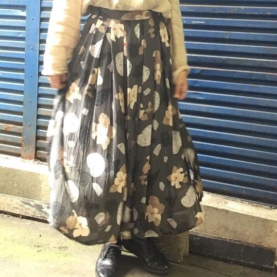 Vintage Grey Seethrou Skirt