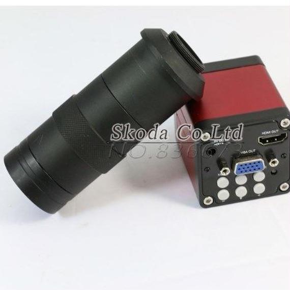 【送料無料!】13mp hdmi vga HD業界 ビデオ顕微鏡カメラ デジタルビデオカメラ 顕微鏡 ビデオ出力 マウントカメラレンズ【新品】