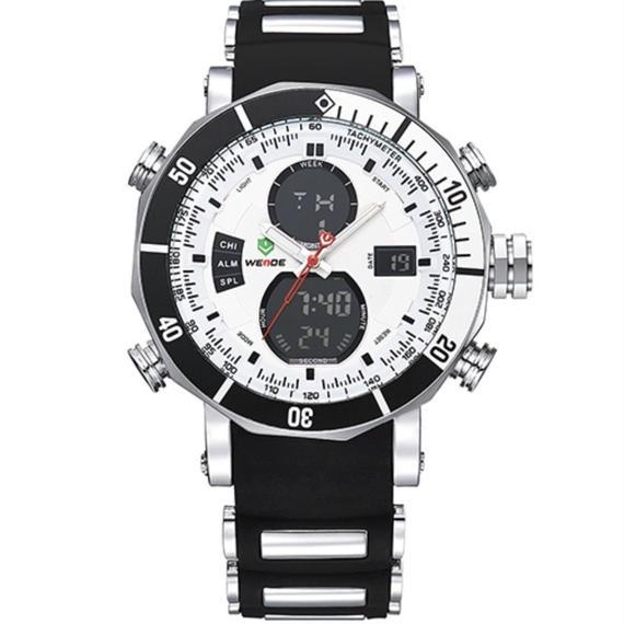 【送料無料!】高級時計 メンズ スポーツ 腕時計 デジタルデュアル 防水機能 希少 日本未発表モデル シリコンバンド【新品】
