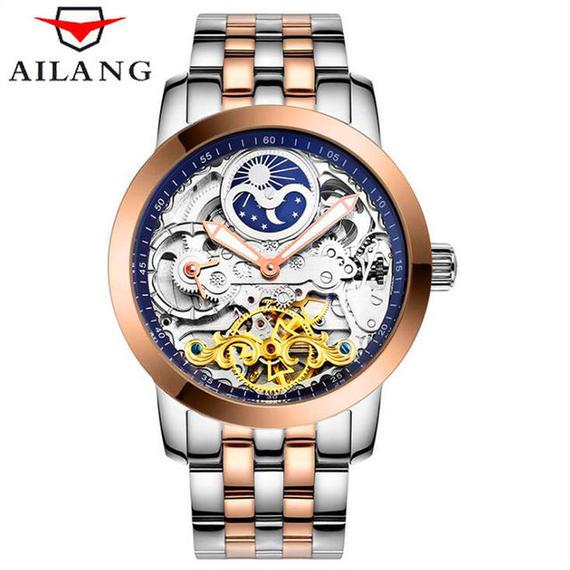 【送料無料!】【驚愕価格!】激レアブランド ailang トゥールビヨン メンズ腕時計 海外高級ブランド ゴールド 輸入ブランド品 大人気商品!【新品】