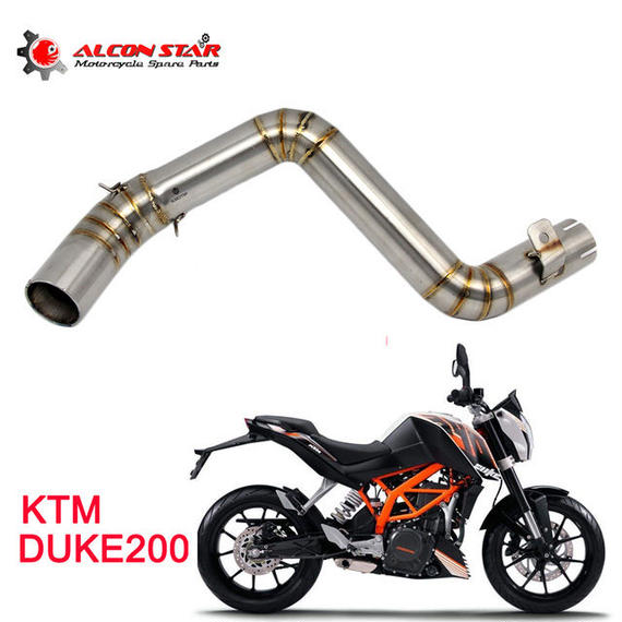 【送料無料!】KTM DUKE125 DUKE200 DUKE390 スリップオン化 中間パイプ / テールパイプ リンクパイプ【新品】