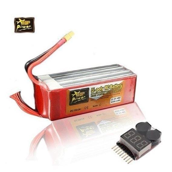 リポ バッテリー ZOP 6S 22.2V 6200mah 45C XT60 6セル F3C 大型ドローン 野外充電 3Dラジコンヘリ ブザーアラーム付 5000mah 4500mah