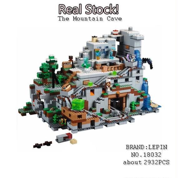 【送料無料!】レゴ互換 lego(レゴ)風 レゴ (LEGO) MINECRAFT マインクラフト 山の洞窟 The Mountain Cave 21137【新品】