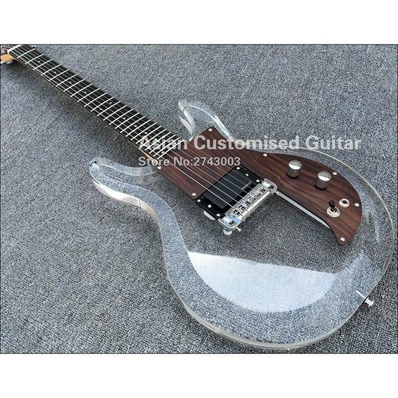 【送料無料!】アクリル製エレキギター*Dan Armstrong(ダンアームストロング)やAmpeg(アンペグ)等ではありません。ノーブランド【新品】