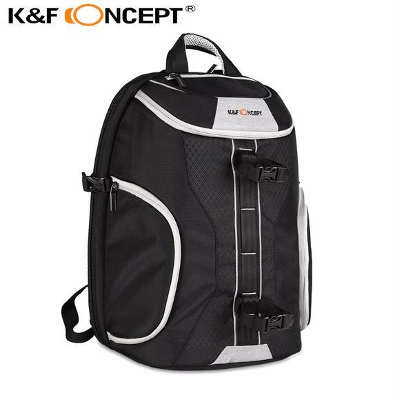 【送料無料!】K&F CONCEPT カメラバックパックバッグケース キャノンの全てのDSLRカメラにフィット レインカバー付き【新品】