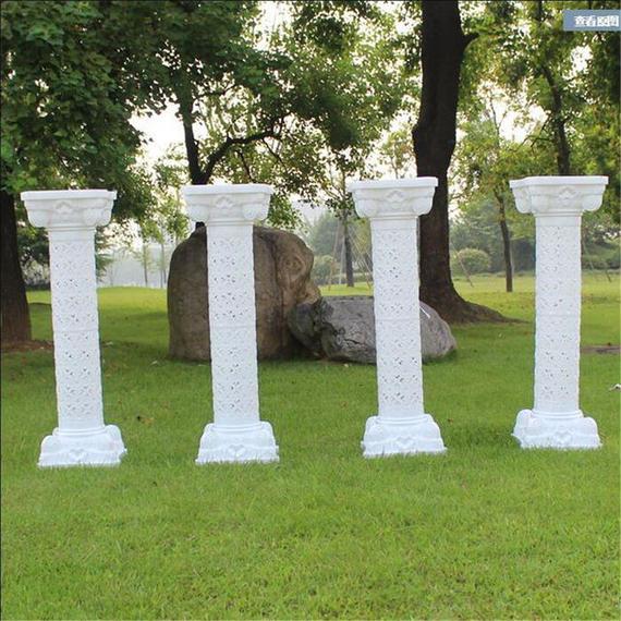 【送料無料!】ヨーロッパスタイル ローマ神殿 柱 プラスチック製 結婚式 小道具 イベント 装飾品【新品】