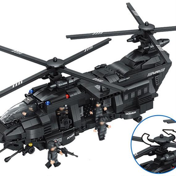 【送料無料!】【最安値】レゴ 風 LEGO互換 SWAT部隊 輸送ヘリ他 豪華セット ヘリコプター 軍隊 警察特殊部隊 新品 即決【新品】