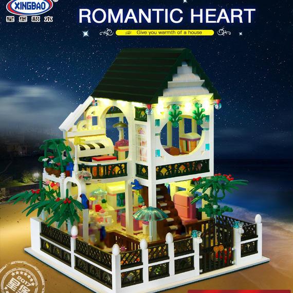 【送料無料!】Xingbao 01202新しいロマンチック生活 ライトusbビルディングブロックレンガ玩具としてバレンタインのプレゼント【新品】