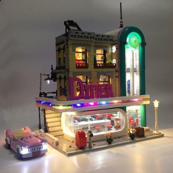 【送料無料!】激レア!! LEGO レゴ クリエイター 10260 互換 ダウンタウン ディナー Down Town Diner LED ライトキット【新品】
