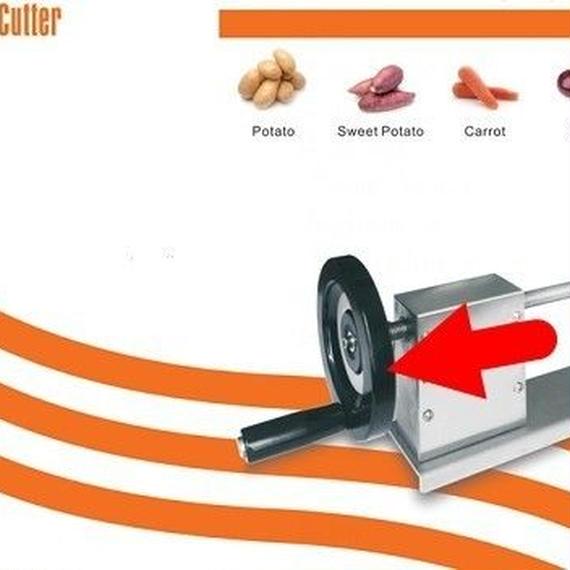 【送料無料!】ねじれたスパイラルポテトカッター手動ポテトスライサー機能的な野菜切断機ツールステンレス鋼ナイフ【新品】