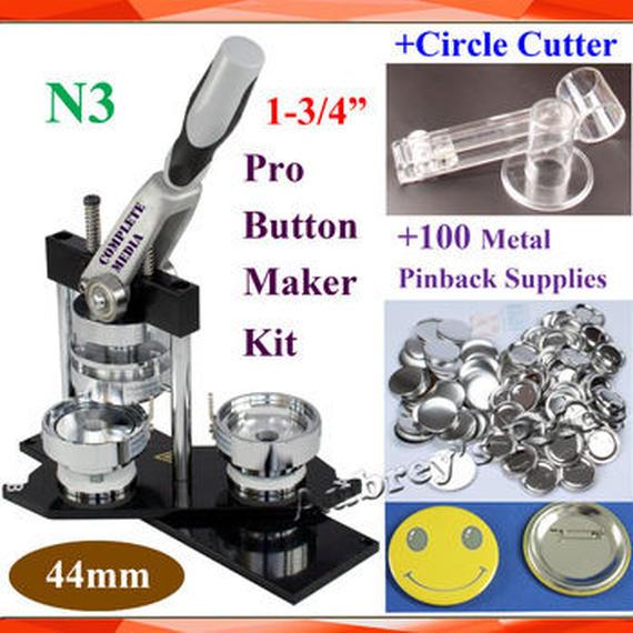 缶バッジマシーン 44mm 調節可能なサークルカッター バッジ100個付き 業務用